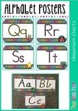 Alphabet Posters - blackboard style