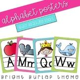 Alphabet Posters (burlap)