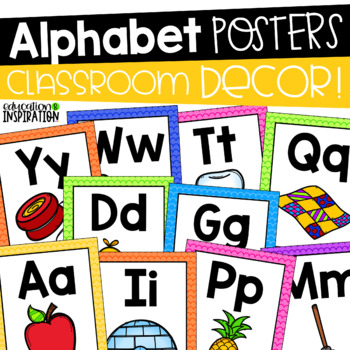 Alphabet Posters by Education and Inspiration