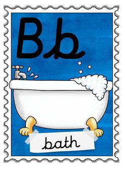 Alphabet Posters / cursive font