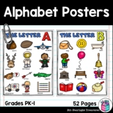 Alphabet Posters for Early Readers, Alphabet Letter of the