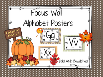 Alphabet Posters for Focus Wall- FALL