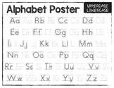 Alphabet Posters for Tracing and Letter Writing Practice