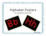 Alphabet Posters for students with CVI