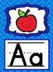Alphabet Posters in Blue Chevron