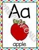 Alphabet Posters in Bright Polka Dots