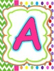 Alphabet Posters in Candy Land Colors