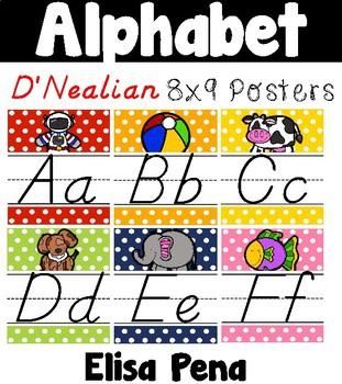 Alphabet Posters in D'Nealian Manuscript