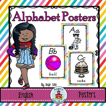 Alphabet Posters in English