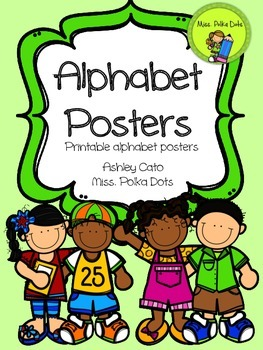 Alphabet Posters in Green