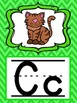 Alphabet Posters in Green Chevron