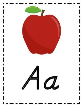 Alphabet Posters in Modern Manuscript