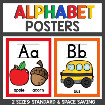 Alphabet Posters in Primary Colors