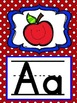 Alphabet Posters in Red and Blue Polka Dots