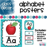 Alphabet Posters in Red and Teal