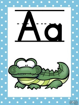 Alphabet Posters in Spanish and English