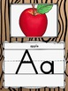 Alphabet Posters in a Camping Classroom Decor Theme