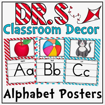 Alphabet Posters in a Dr. S Inspired Theme