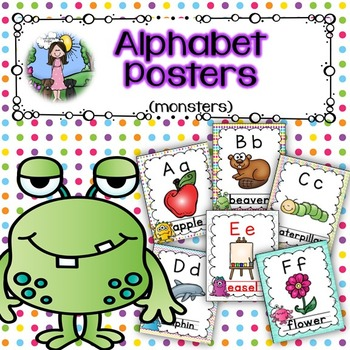 Alphabet Posters (monsters)