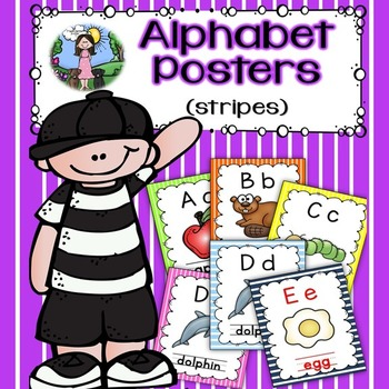 Alphabet Posters (stripes)