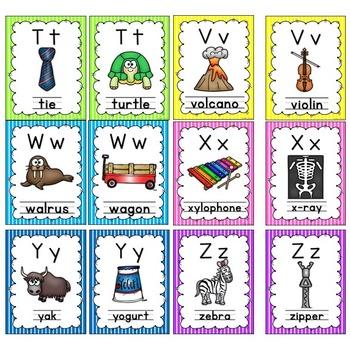 Alphabet Posters (stripes)