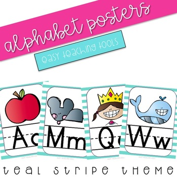 Alphabet Posters (teal)