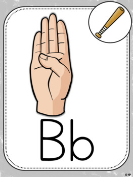 Alphabet Posters with ASL signs (version 2)