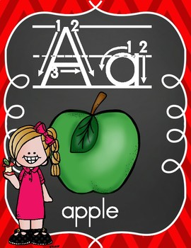 Alphabet Posters with Apple Kids
