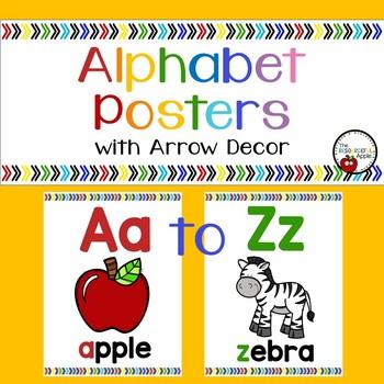 Alphabet Posters with Beginning Sound Focus