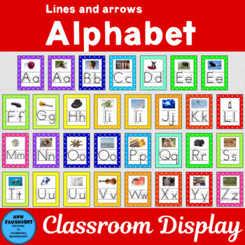 Alphabet Posters with Arrows