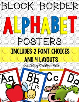 Alphabet Posters with Block Border