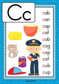 Alphabet Posters with CVC Words