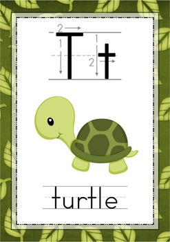 Jungle Alphabet Posters with Correct Letter Formation - Animals {FREE}