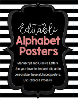 Alphabet Posters with Cursive and Manuscript Letters