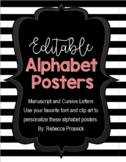 Alphabet Posters with Cursive and Manuscript Letters