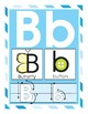 Alphabet Posters with Letter Directional Arrows, Blue Stripe