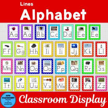 Alphabet Posters with Lines