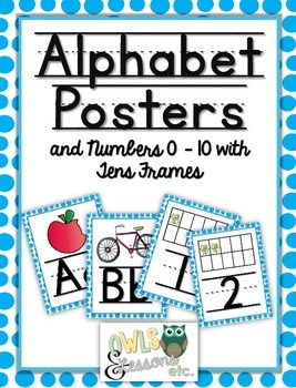 Alphabet Posters with Numbers 0-10