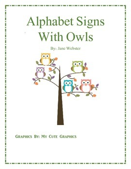 Alphabet Posters with Owls