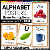 Alphabet Posters with Photos (Calm and Natural Classroom Theme)