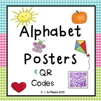 Alphabet Posters with QR Codes - FUN!