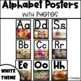 Alphabet Posters with Real Photos Pictures Photographs White Theme