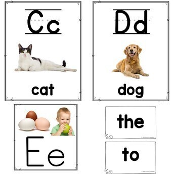 Alphabet Posters with Real Pictures