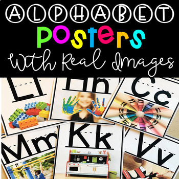 Alphabet Posters with Real Pictures {Classroom Decor}