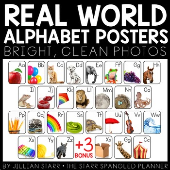 Alphabet Posters with Real World Photographs