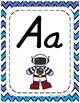 Classroom Decor Alphabet Posters with Turquoise Blue Chevron