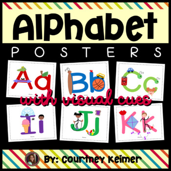 Alphabet Posters & Flashcards with Visual Cues