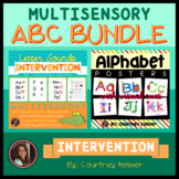 Alphabet Posters with Visual Cues and Letter Sound Chant Intervention Bundle