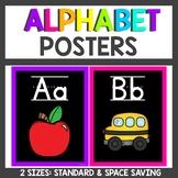 Neon Theme Classroom Decor Alphabet Posters