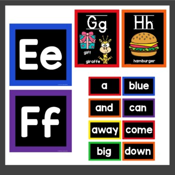 Alphabet Posters in Black and Primary Colors